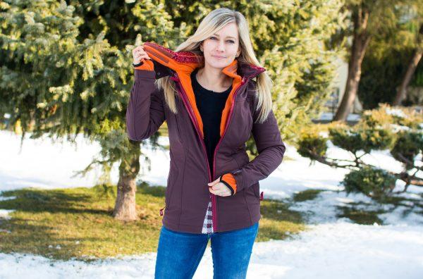 Agnes Softshellová bunda - predĺžený rukáv 4