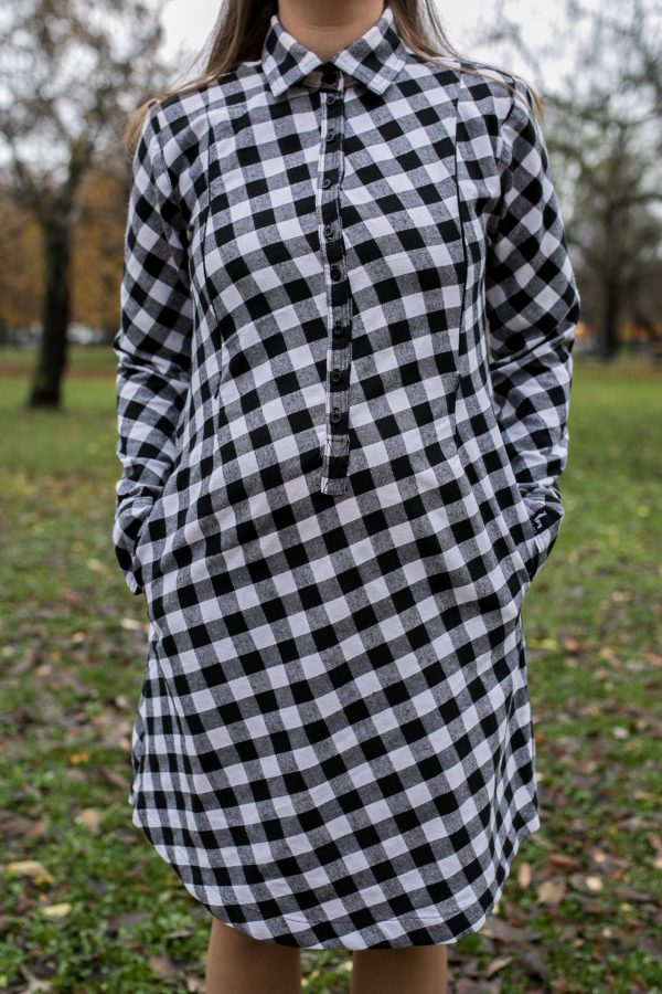 Šaty Čiernobiele Káro 1