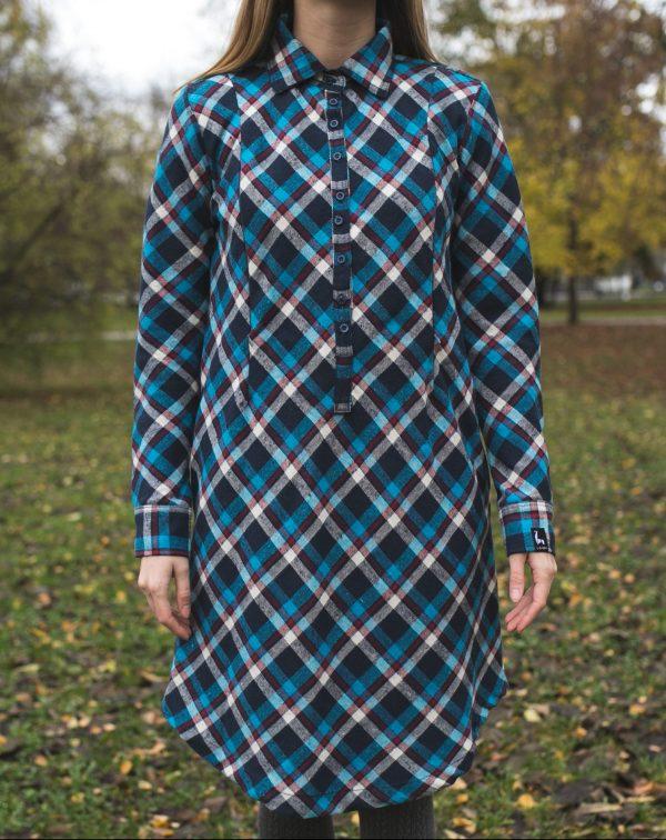 Šaty Modré Káro 1