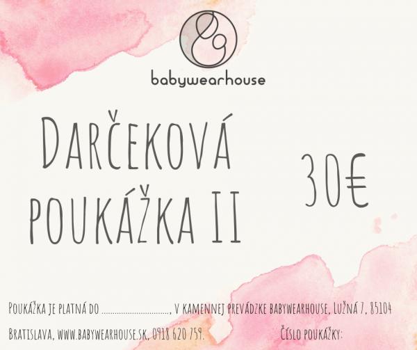Darčeková poukážka Babywearhouse II 1
