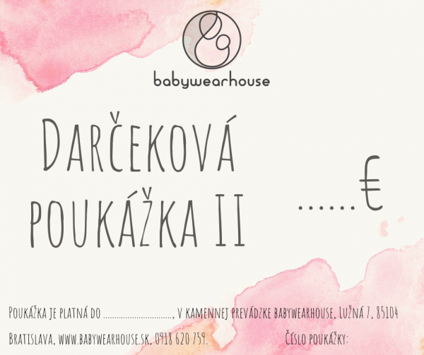 Darčeková poukážka Babywearhouse II 4