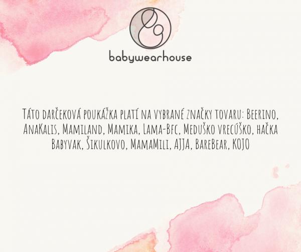 Darčeková poukážka Babywearhouse II 5