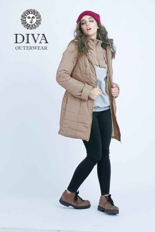 Zimná bunda na nosenie Diva Milano Mokka 4v1 (veľmi teplá) 6