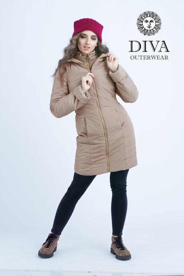 Zimná bunda na nosenie Diva Milano Mokka 4v1 (veľmi teplá) 4