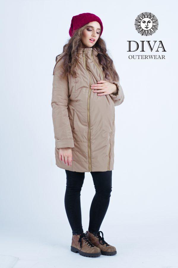 Zimná bunda na nosenie Diva Milano Mokka 4v1 (veľmi teplá) 5