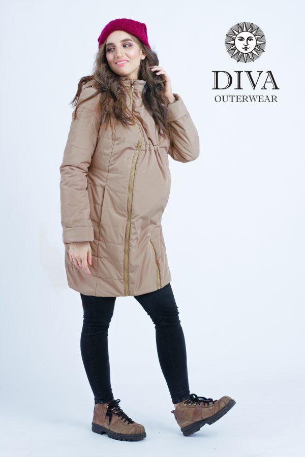 Zimná bunda na nosenie Diva Milano Mokka 4v1 (veľmi teplá) 3