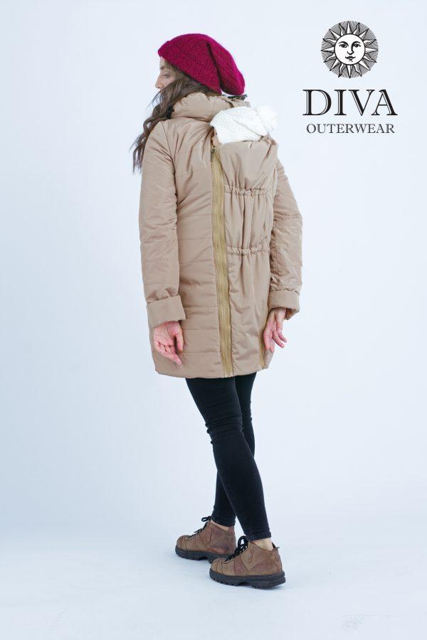 Zimná bunda na nosenie Diva Milano Mokka 4v1 (veľmi teplá) 2
