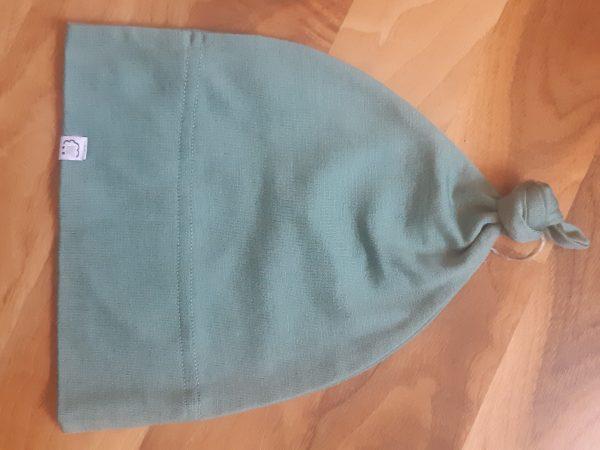 Detská rastúca merino čiapka so štýlovým uzlíkom - farebné varianty 4