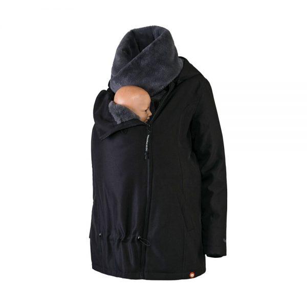 Zimná nosiaca a tehotenská bunda WALLABY 2.0 Black & Charcoal Grey 6