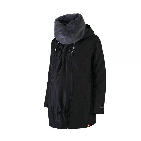 Zimná nosiaca a tehotenská bunda WALLABY 2.0 Black & Charcoal Grey 8