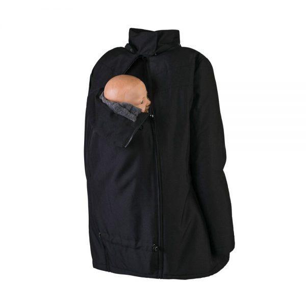Zimná nosiaca a tehotenská bunda WALLABY 2.0 Black & Charcoal Grey 9