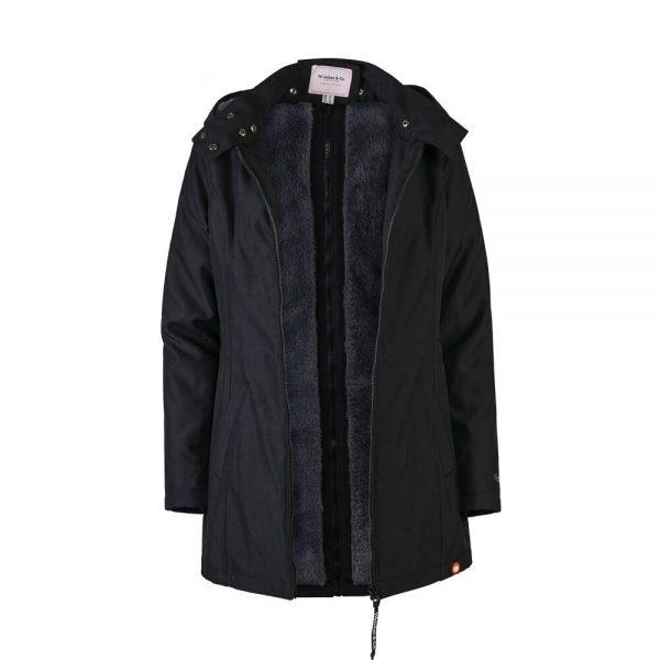 Zimná nosiaca a tehotenská bunda WALLABY 2.0 Black & Charcoal Grey 10