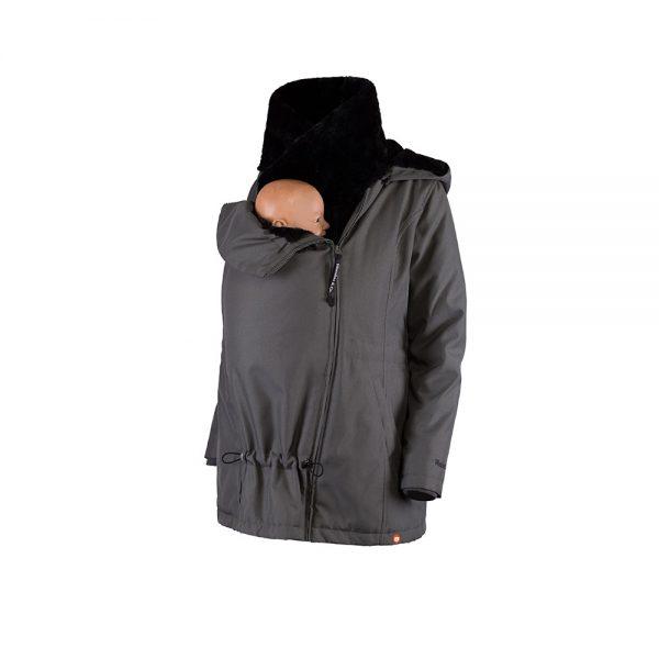 Zimná nosiaca a tehotenská bunda WALLABY 2.0 Grey & Black 5