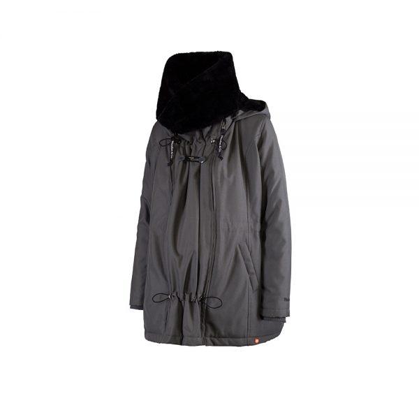 Zimná nosiaca a tehotenská bunda WALLABY 2.0 Grey & Black 7