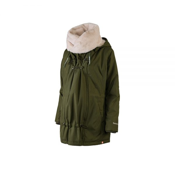 Zimná nosiaca a tehotenská bunda WALLABY 2.0 Forrest Green & Beige 8
