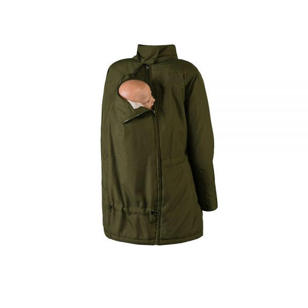 Zimná nosiaca a tehotenská bunda WALLABY 2.0 Forrest Green & Beige 6