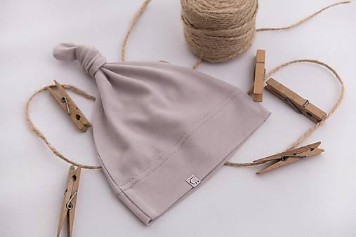 Detská rastúca merino čiapka so štýlovým uzlíkom - farebné varianty 8