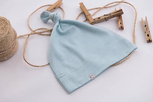 Detská rastúca merino čiapka so štýlovým uzlíkom - farebné varianty 9
