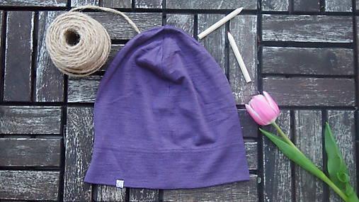 Merino/hodváb dospelácka čiapka - farebné varianty 1