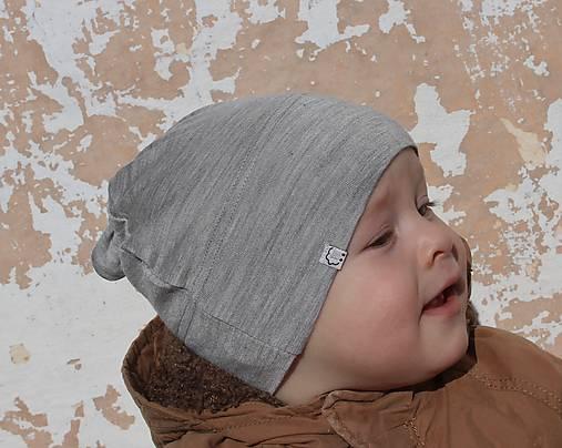 Detská rastúca merino čiapka so štýlovým uzlíkom - farebné varianty 6
