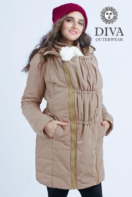 Zimná bunda na nosenie Diva Milano Mokka 4v1 (veľmi teplá) 1