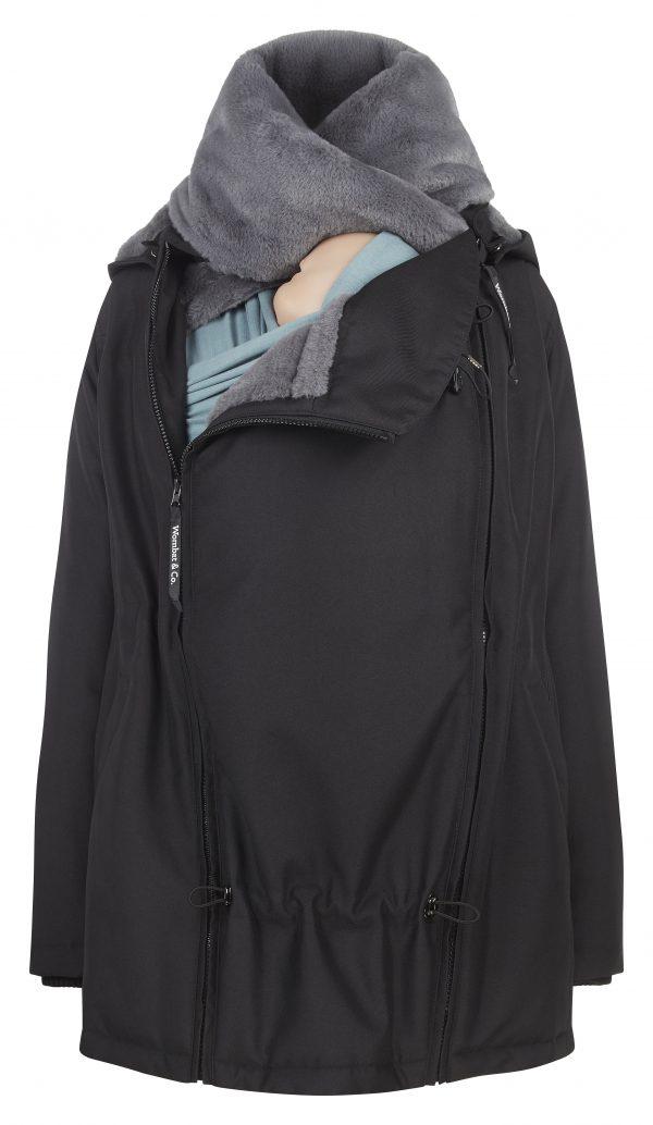 Zimná nosiaca a tehotenská bunda WALLABY 2.0 Black & Charcoal Grey 4
