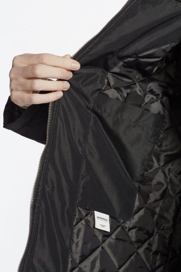 Nosiaci zimný kabát so zipsami a reflexnými prvkami 4v1 3