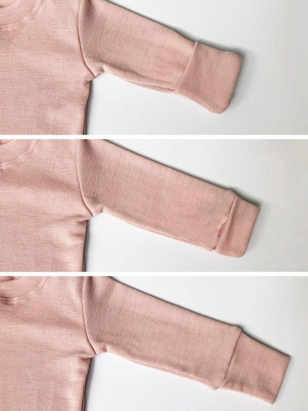 Detské hrubé merino body púdrovo-ružové 4