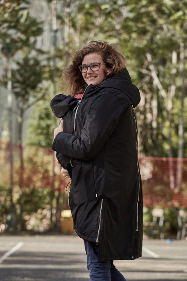Nosiaci zimný kabát so zipsami a reflexnými prvkami 4v1 2