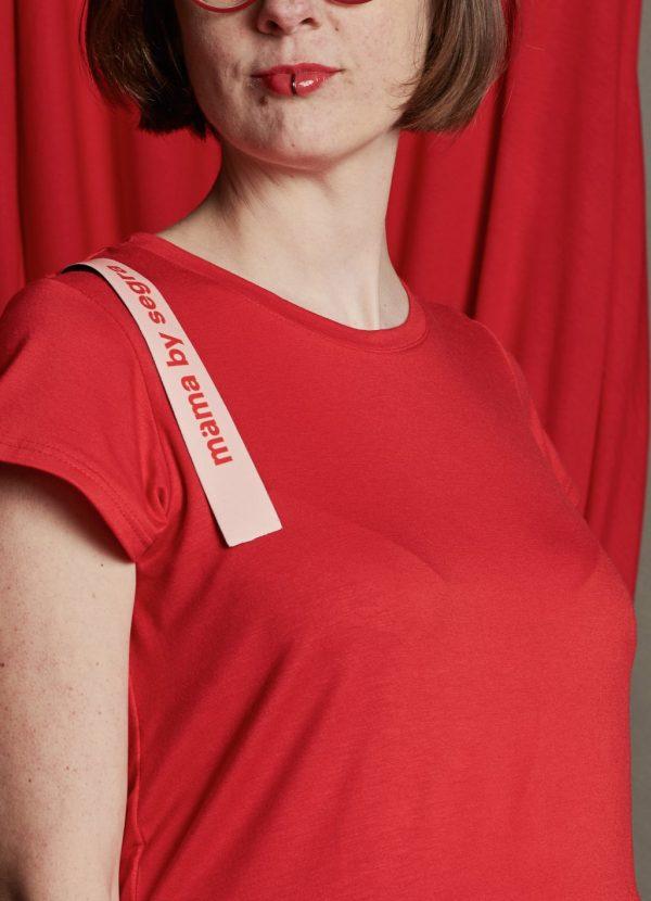 Dizajnové šaty s pásikom 2