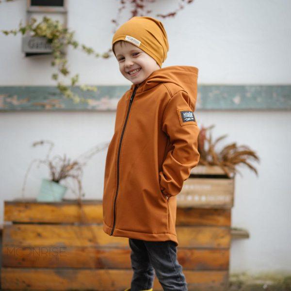 Detská softshellová bunda - caramel 1