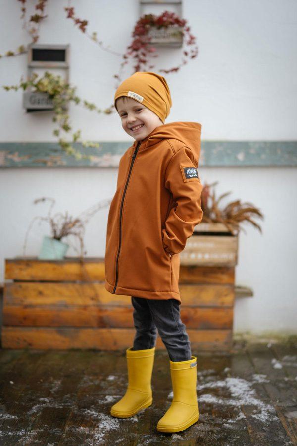 Detská softshellová bunda - caramel 2